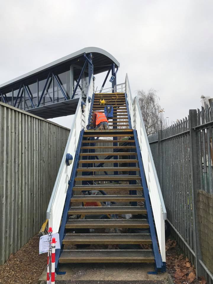 non slip resin coating on stairs