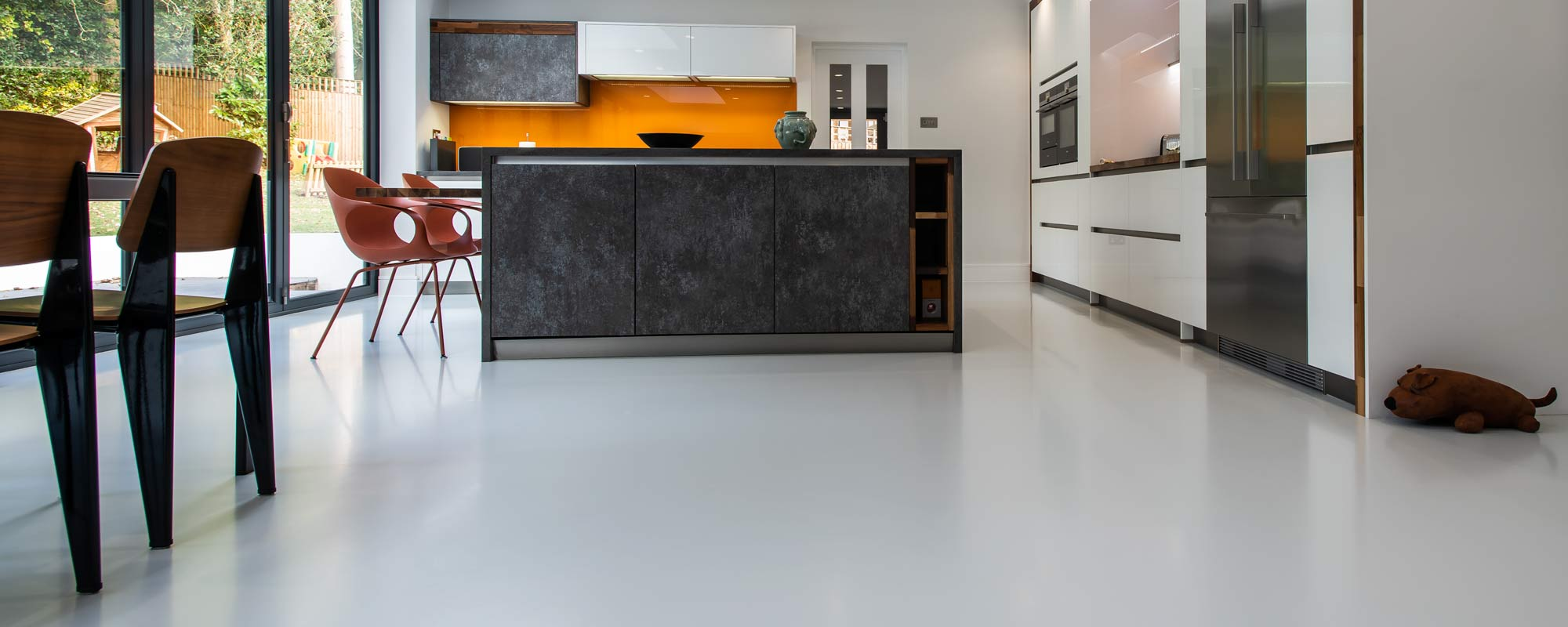 resin kitchen floor