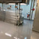 Resin Floor in commercial kitchen