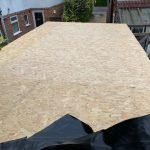 New flat roof OSB